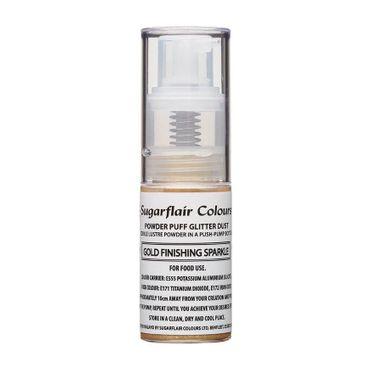 Sugarflair Pump Spray Glitter Dust -Gold Finishing--  Essbares Glitter Spray