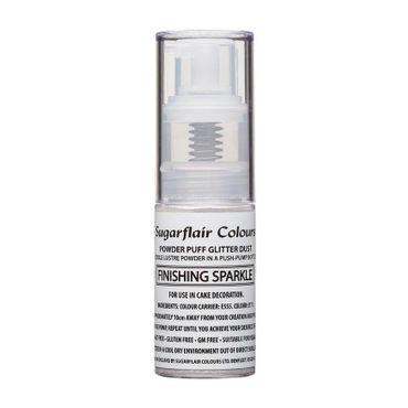 Sugarflair Pump Spray Glitter Dust - Silver Finishing--  Essbares Glitter Spray