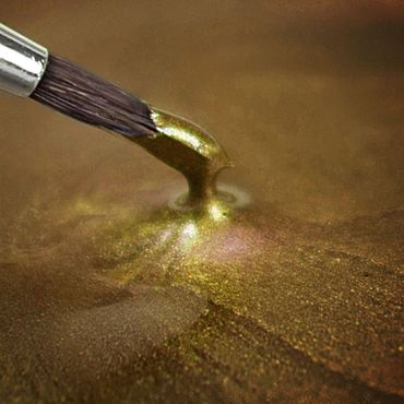 Rainbow Dust flüssige Metallicfarbe Light Gold – Hellgold – Bild 2