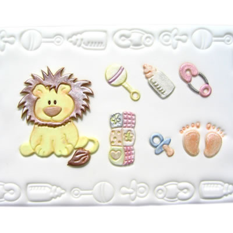 6db2c9cd595 Patchwork Cutters Baby Lion and Nursery Items – Löwe und Baby Accessoires 7  teilig