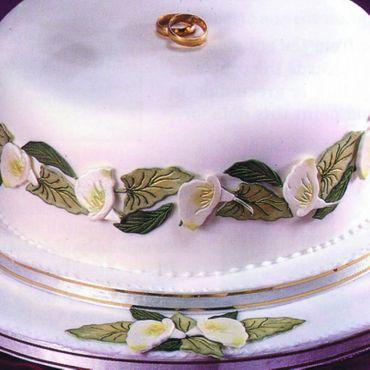Patchwork Cutters Arum Lily  – Arum Calla Lilien Set mit Blattgrün 12 tlg – Bild 1