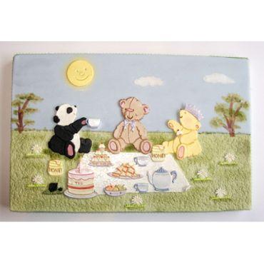 Patchwork Cutters Teddy Bears Picnic – Teddy Bären beim Picknick 15 teilig – Bild 1