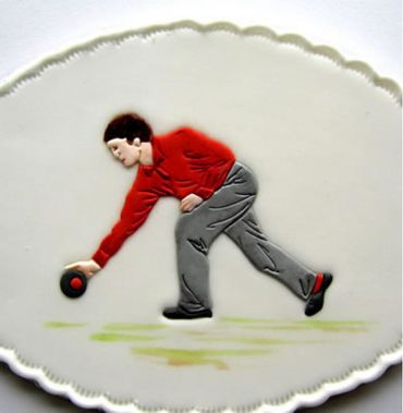 Patchwork Cutters Bowler – Bowlingspieler – Bild 1