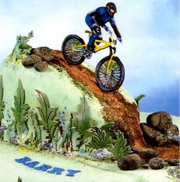 Patchwork Cutters Mountainbike – Mountainbike mit Fahrer – Bild 1