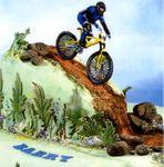 Patchwork Cutters Mountainbike – Mountainbike mit Fahrer 001