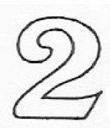 Patchwork Cutters Ziffer 2 – extra groß – Bild 1