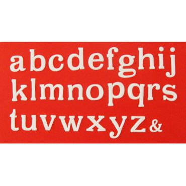 Patchwork Cutters Large Alphabet Lower Case – Kleinbuchstaben Ausstecher Set  – Bild 1