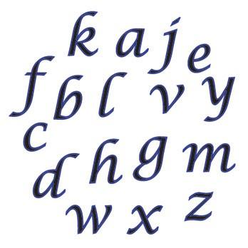 FMM Kursiv gestellte Kleinbuchstaben in Schreibschrift – Bild 1