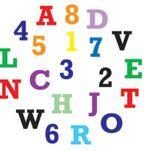 FMM Großbuchstaben und Zahlen Druckschrift 001