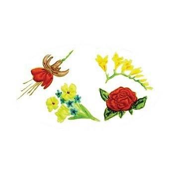 FMM Blumen Stempel Präge Set 2 – Embosser Set Flowers 2