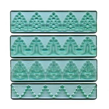 FMM Bordüren und Spitzen Ausstecher Set 3 – 4teilig - Textured Lace Cutter Set #3