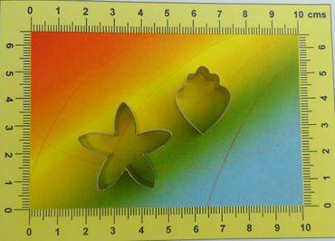 CelCakes Cymbidium Orchidee Blütenblatt Ausstecher Set aus Metall – 2 teilig