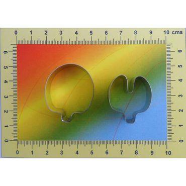 CelCakes Wicken – Sweet Pea Blütenblatt Ausstecher Set aus Metall  – 2teilig