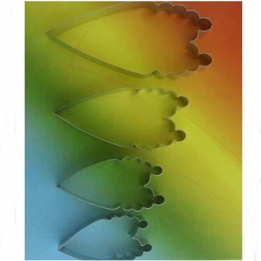 CelCakes Pfingstrosen Blütenblatt Ausstecher – 4teiliges Set aus Metall – Bild 1