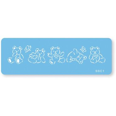 JEM Tumbling Teddies - Teddybären Stencil Schablone