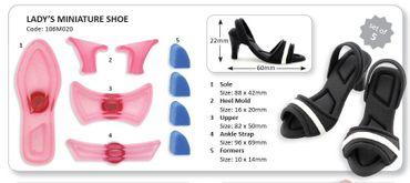 JEM Lady´s Miniature Shoe - Damenschuh Ausstecher und Former Set 5 teilig