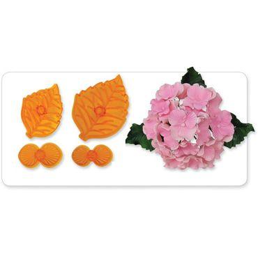 JEM Hydrangea - Hortensienblüten Ausstecher Set mit Prägung - 4 teilig