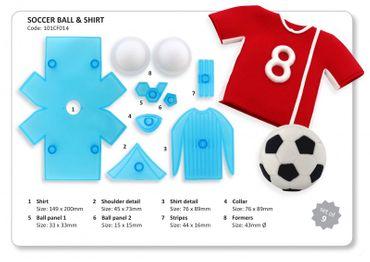 JEM Soccer Ball And Shirt Cutters -  Fussball und Trikot Ausstecher Set – 9 teilig