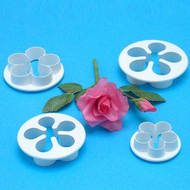 PME 5 Blatt Blüten Ausstecherset - 5-Petal Blossom Cutter - 4 teilig