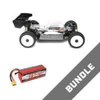 HB Racing E819 1:8 RC Buggy Brushless + LiPo Akku 6750 mAh 14.8V 50c – Bild 1