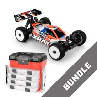 XRAY XB8E 2020 RC Buggy 1:8 Kit + Corally Koffer mit 4xSortimentsbox