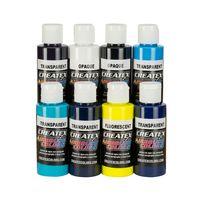 Createx Airbrush Farben Kent Lind Cool Transpa + Opaque 8x 60ml SET – Bild 1