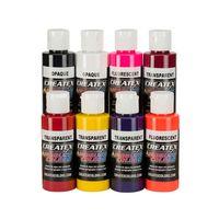 Createx Airbrush Farben Kent Lind Warm Transpa + Opaque 8x 60ml SET – Bild 1