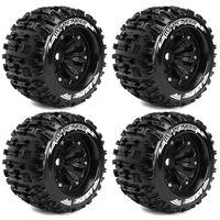 Louise MT-Pioneer Monster Reifen 1:8 Felgen Schwarz 1/2 Offset 4Stück – Bild 1