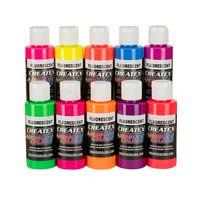 Createx Airbrush Farben Fluorescent 10x 60ml transparent – Bild 1