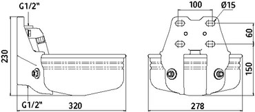 Abreuvoir E21, inox – Bild 2