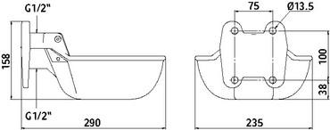 Cast iron water bowl G20 – Bild 2