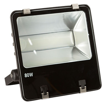 LED 80 watt outdoor spotlight without motion sensor