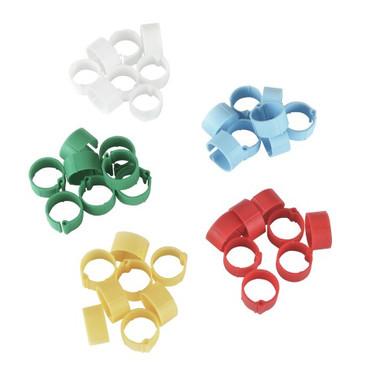 Kunststoffen clips, ø 8 mm, kleurenmix
