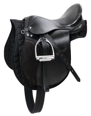 "Saddle set ""Pony"", black 16.0"""