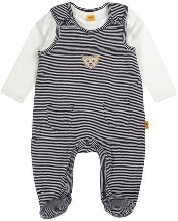 STEIFF® Baby Jungen Jersey Strampler+Shirt Marine Ringel