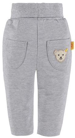 STEIFF® Baby Jogginghose Hose mit Umschlag Grau