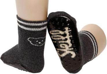 STEIFF® Socken Fliesenflitzer Stopper Hausschuh Rutschesocken Grau