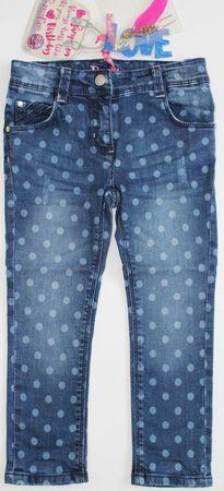 Pampolina® Mädchen Jeans Hose Pünktchen  – Bild 1