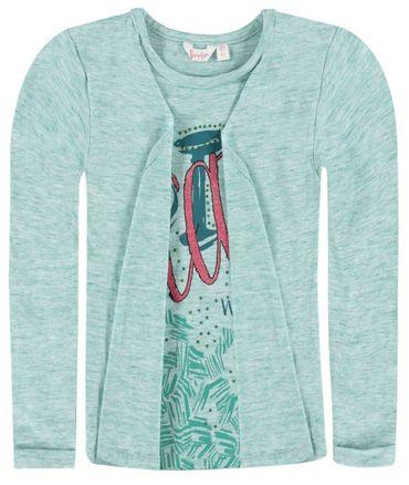 Pampolina® Mädchen Langarm Shirt 2 in 1 Optik