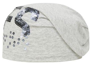 DÖLL® Mädchen Bohomütze Mütze Pailletten Grau