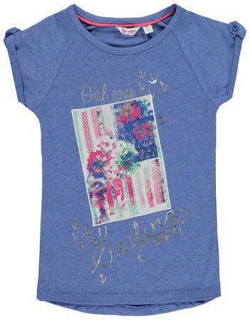 "Pampolina® Mädchen T-Shirt ""Flowers & Stripres"" Blau"
