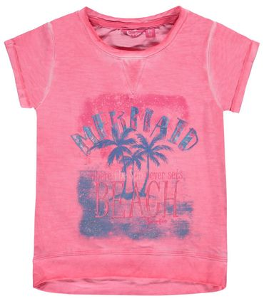 Pampolina® Mädchen T-Shirt Oil-Washed Rose  – Bild 1