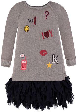 Königsmühle® Mädchen Sweat-Kleid Chiffon-Rock  – Bild 1