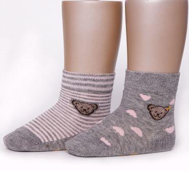 STEIFF® Mädchen 2er Set Socken Summer Colors Bärchen