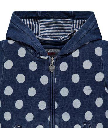 """Kanz® Mädchen Jeans-Sweatjacke """"Dots & Stripes"""" – Bild 3"""