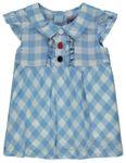 Kanz® Mädchen Sommer-Kleid Flügelarm Karomuster  001