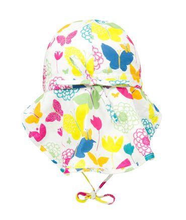 DÖLL® Mädchen Sonnenhut mit Nackenschutz Schmetterlinge  – Bild 2