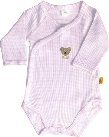STEIFF® Baby Body Wickelbody Langarm geringelt Rosa