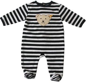 STEIFF® Baby Nicky Strampler Schlafanzug Marine geringelt