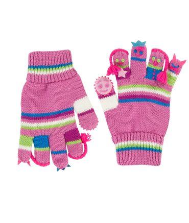 DÖLL® Mädchen Strick Fingerhandschuhe Maskotchen  – Bild 1
